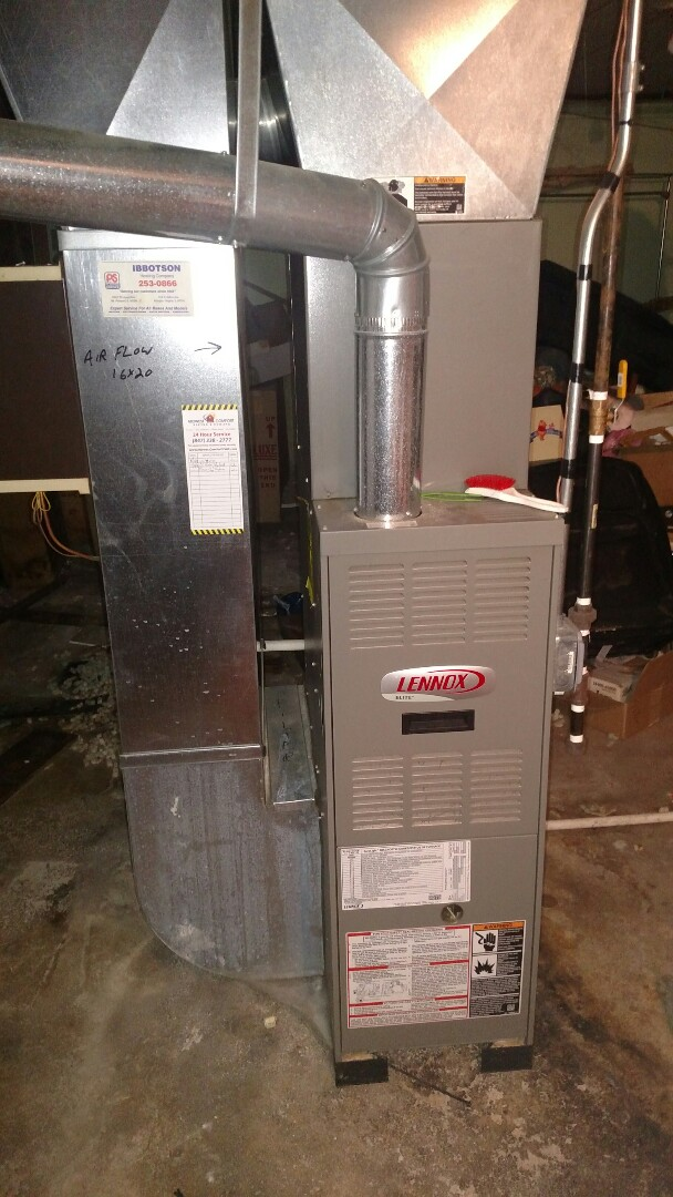 Mount Prospect, IL - Furnace service call. Performed furnace repair on Lennox in Mt Prospect.