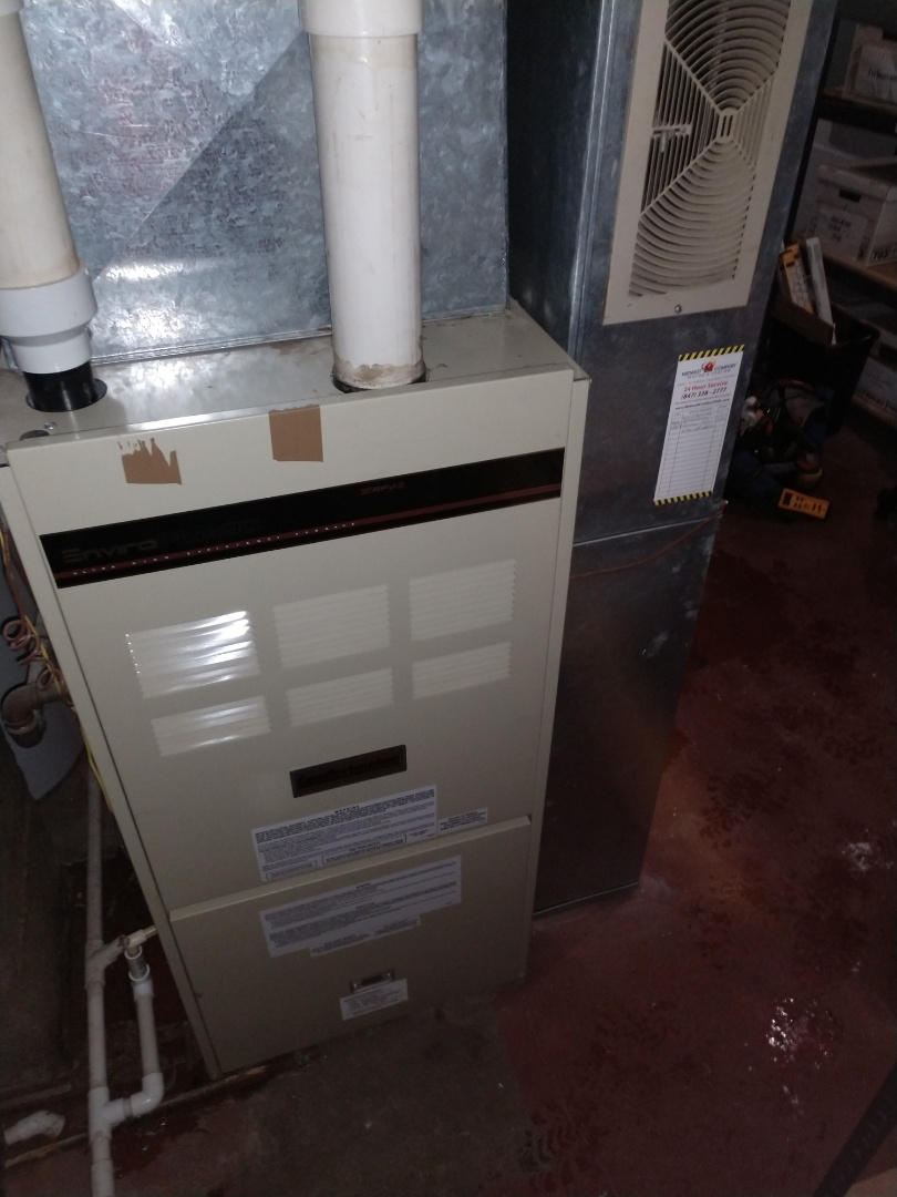 Barrington, IL - Furnace repair. We serviced and repaired a Goodman furnace