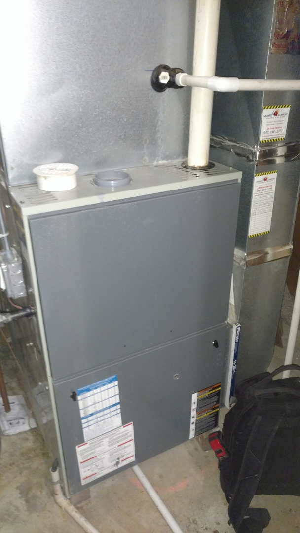 Mount Prospect, IL - Furnace maintenance call. Performed furnace maintenance on American Standard unit.
