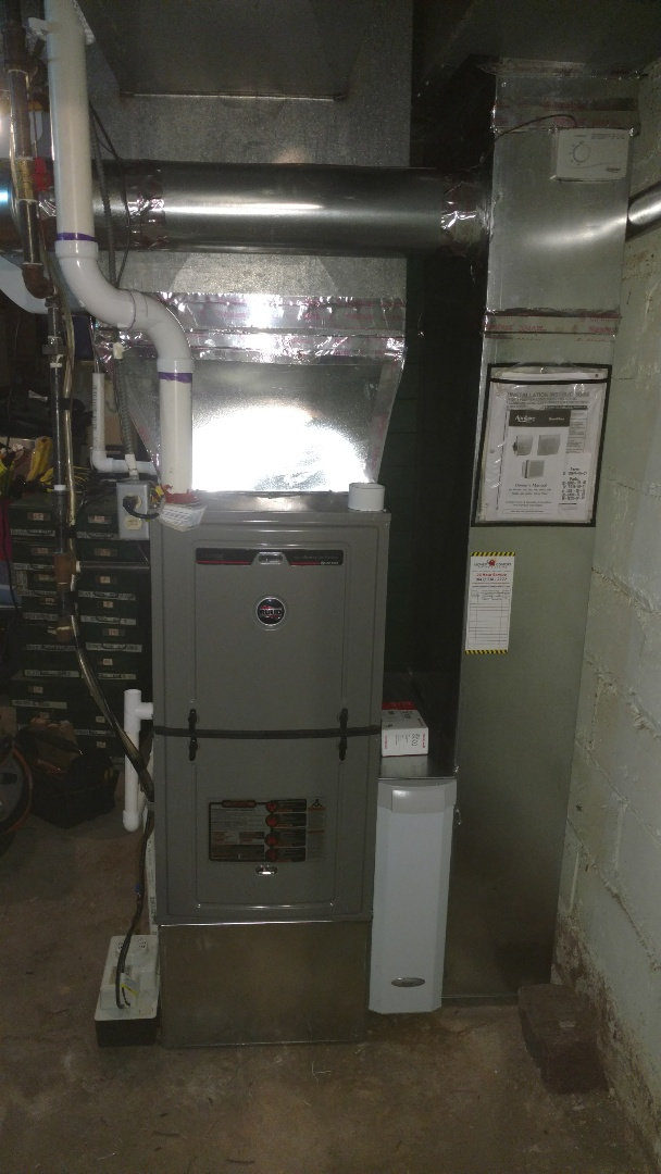 Mount Prospect, IL - Furnace installation call. Performed furnace install on Ruud unit