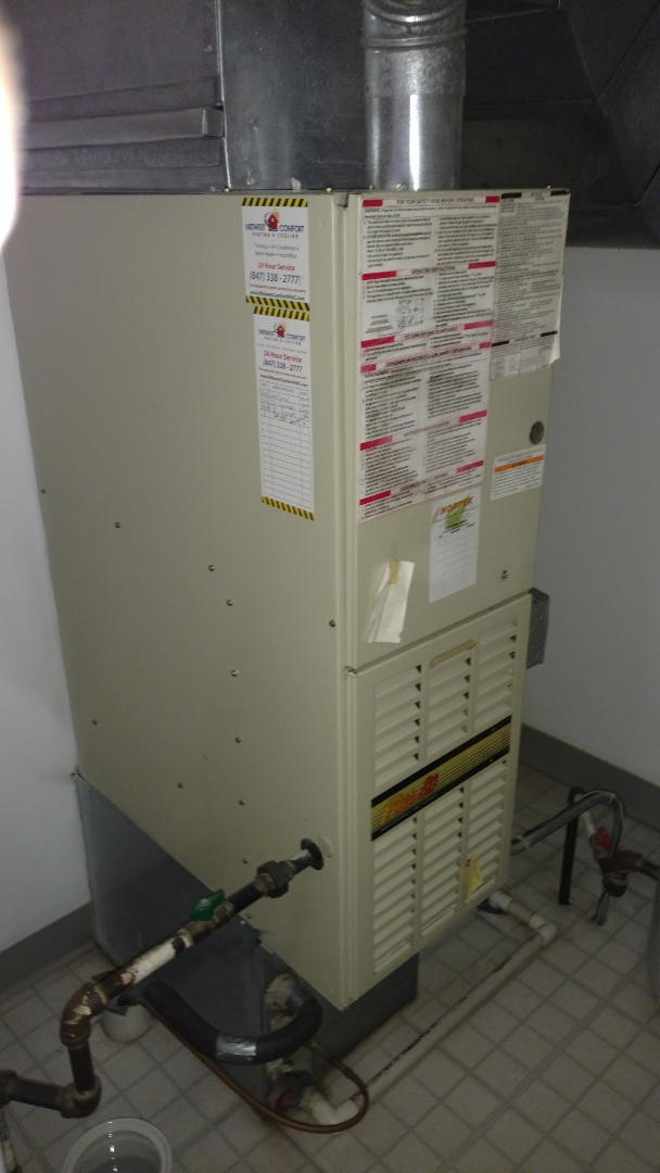 Addison, IL - Furnace maintenance call. Performed furnace maintenance on Bryant unit