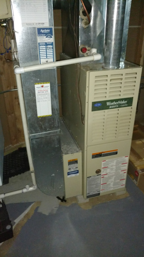 Arlington Heights, IL - Furnace maintenance call. performed furnace maintenance on carrier unit.
