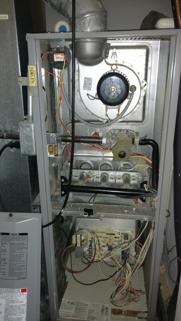 Mount Prospect, IL - Furnace maintenance call. Performed furnace maintenance on Heil units.