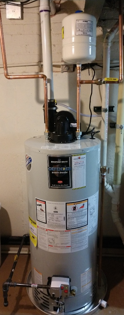Mount Prospect, IL - Water heater installation. We installed a 40 gallon Bradford White power vent heater