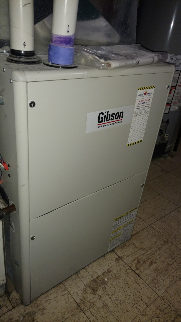Mount Prospect, IL - Gas leak service call. Performed gas leak repair on Gibson furnace.