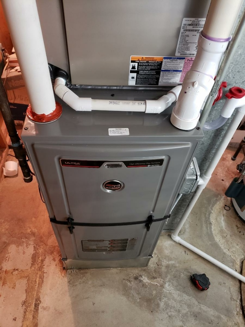 Mount Prospect, IL - Furnace installation call. Performed furnace installation on Ruud unit.