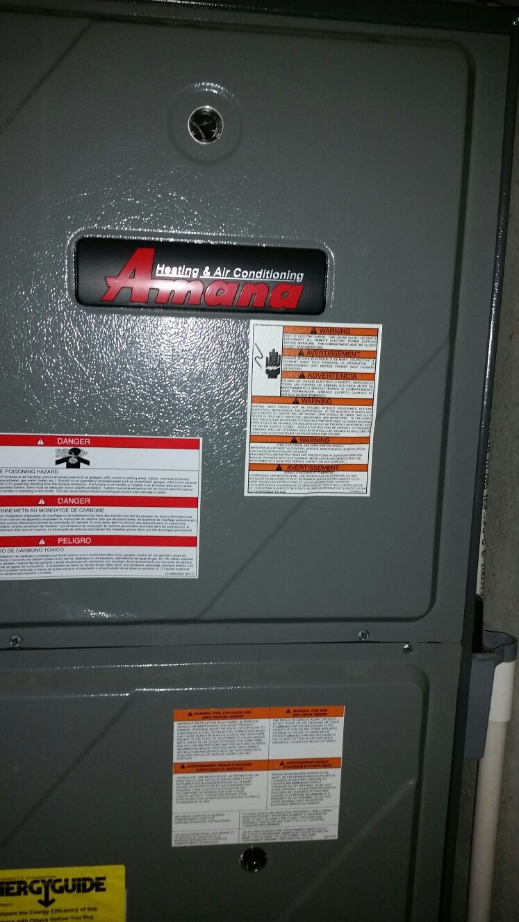 St. Peters, MO - Doing a fall maintenance on an Amana furnace