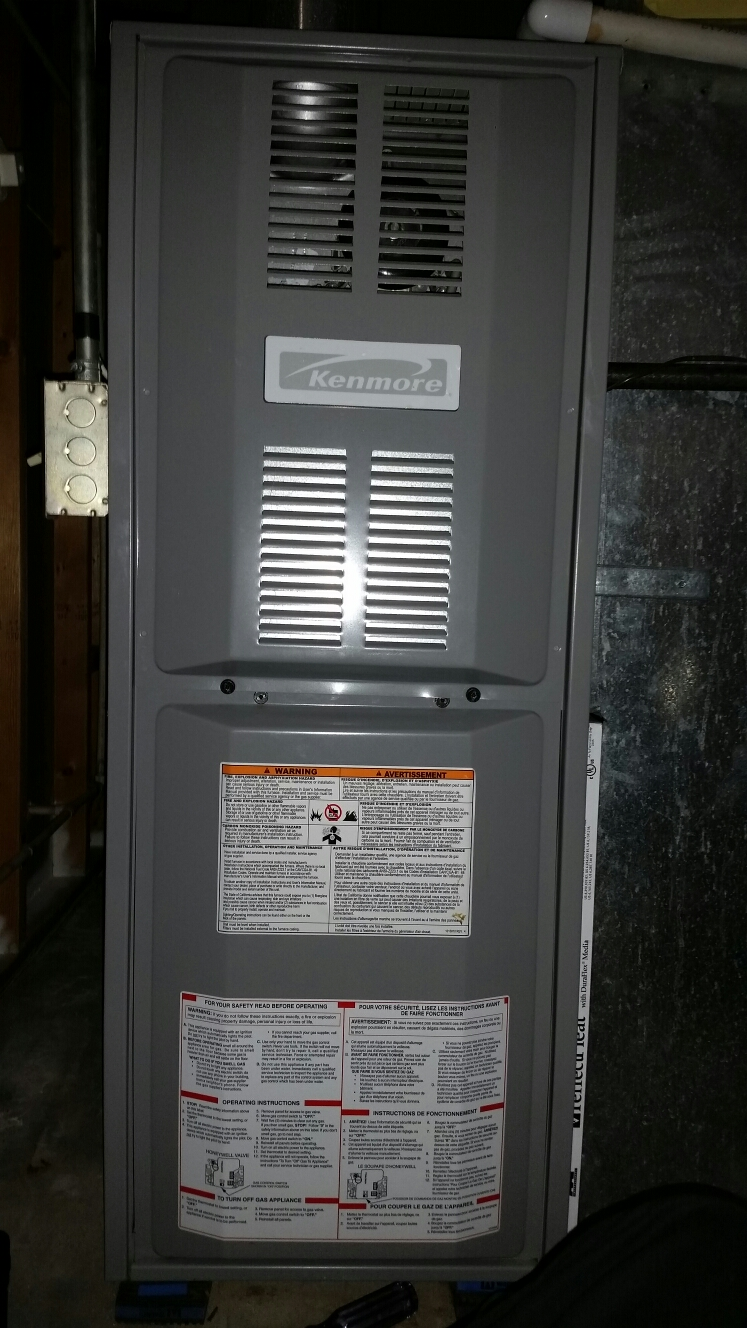 Marthasville, MO - Doing a fall maintenance on a goodman furnace