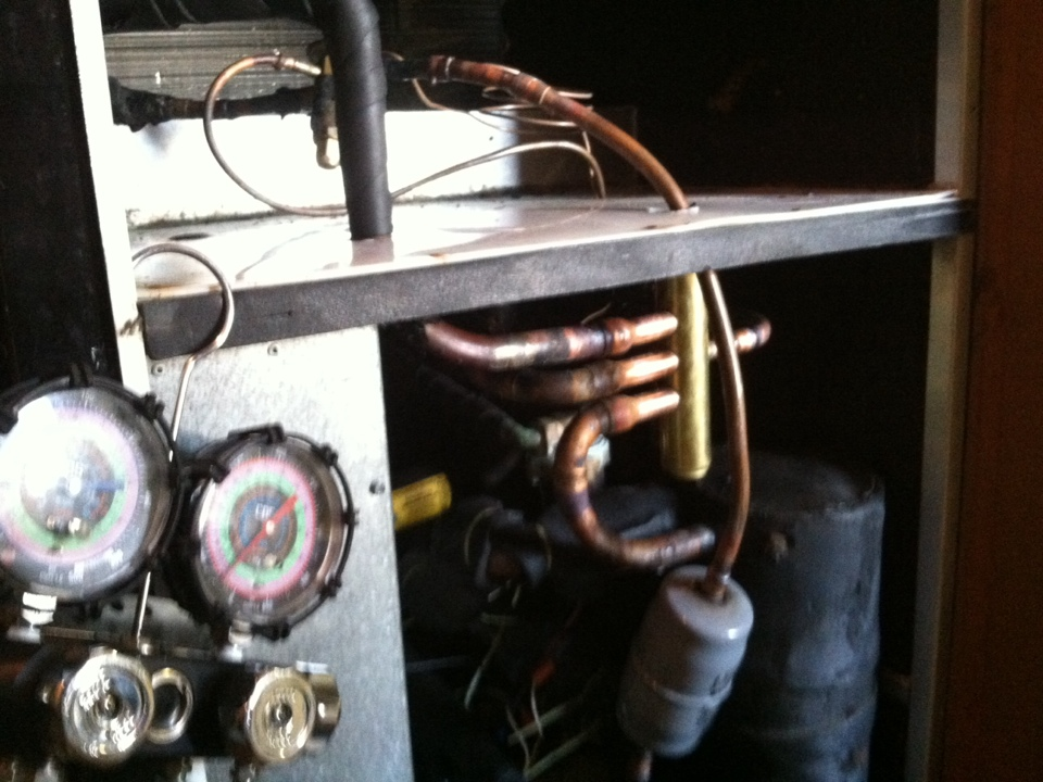 Cottleville, MO - Replacing reversing valve on a Hydrotemp geothermal heat pump.