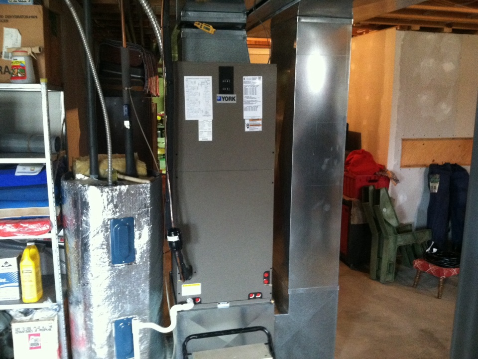 Moscow Mills, MO - Installing york air handler.