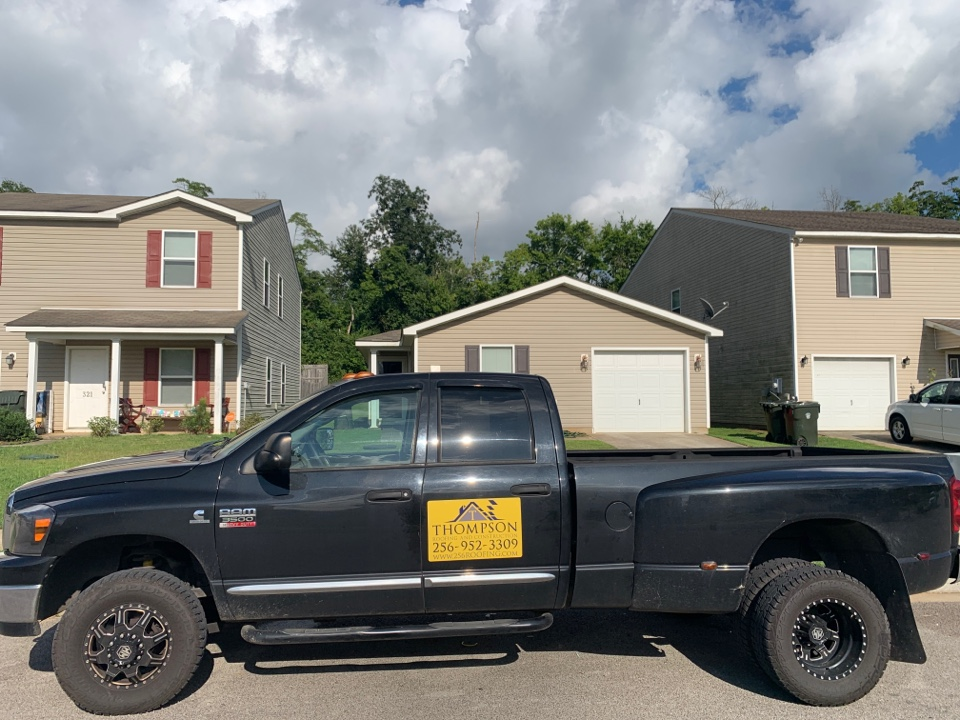 Harvest, AL - Checking out a new roof for a new customer that experienced roofing damage from a storm recently here in Harvest, Alabama. Thompson Roofing and Construction has been able to respond fast to the gustnado of 2021