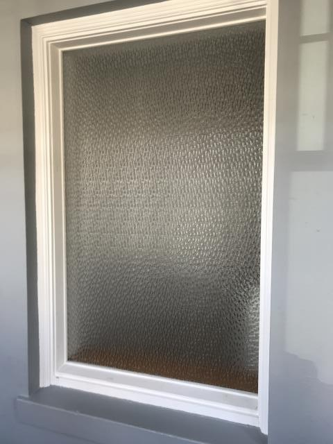 Chicago, IL - Window completed with new custom antique glass