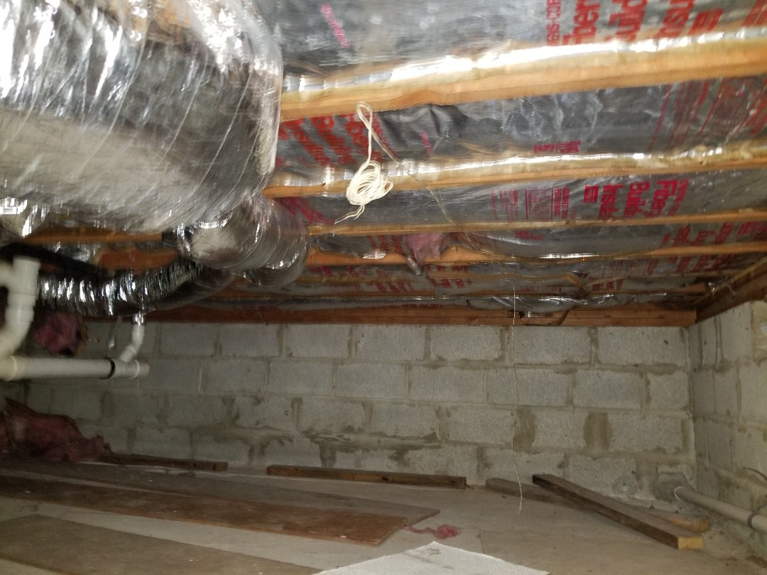 Maplewood, NJ - Found another house with insulation installed improperly by a homeowner in Maplewood New Jersey