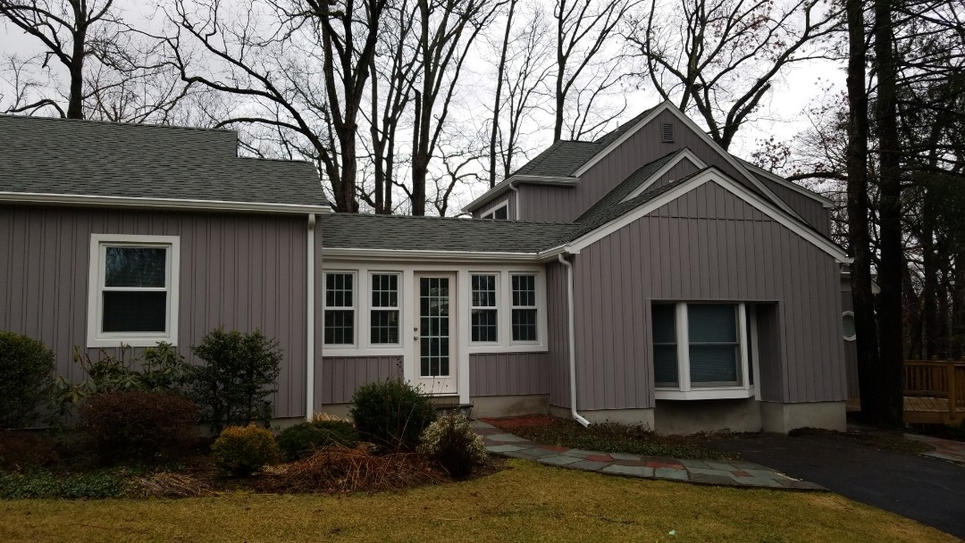 Mountain Lakes, NJ - Board and batten vinyl siding job completed in Mountain Lakes, New Jersey