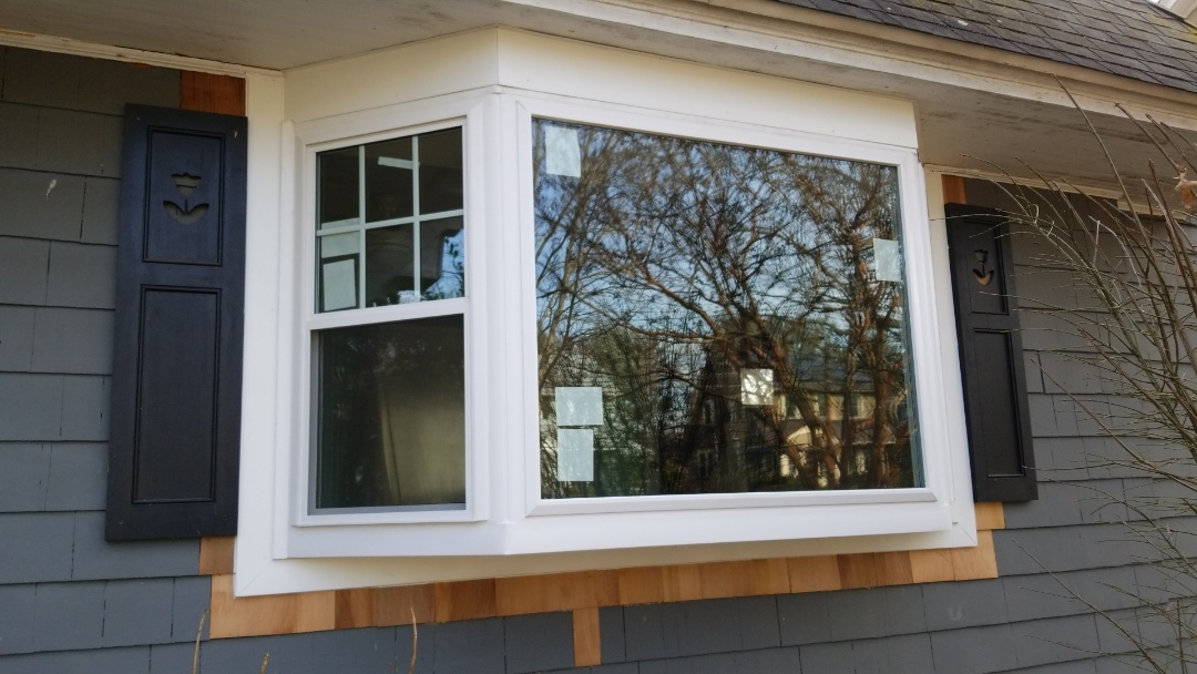 Maplewood, NJ - Bay window installation in progress in Maplewood, New Jersey