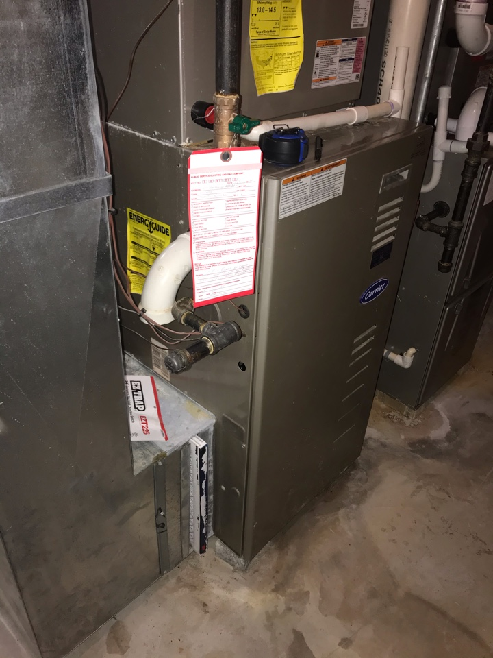 Warren, NJ - Replacement of Carrier gas furnace in Warren.