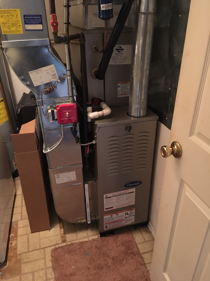 Franklin Township, NJ - CARRIER FURNACE MAINTENANCE AND REPLACE THERMOSTAT