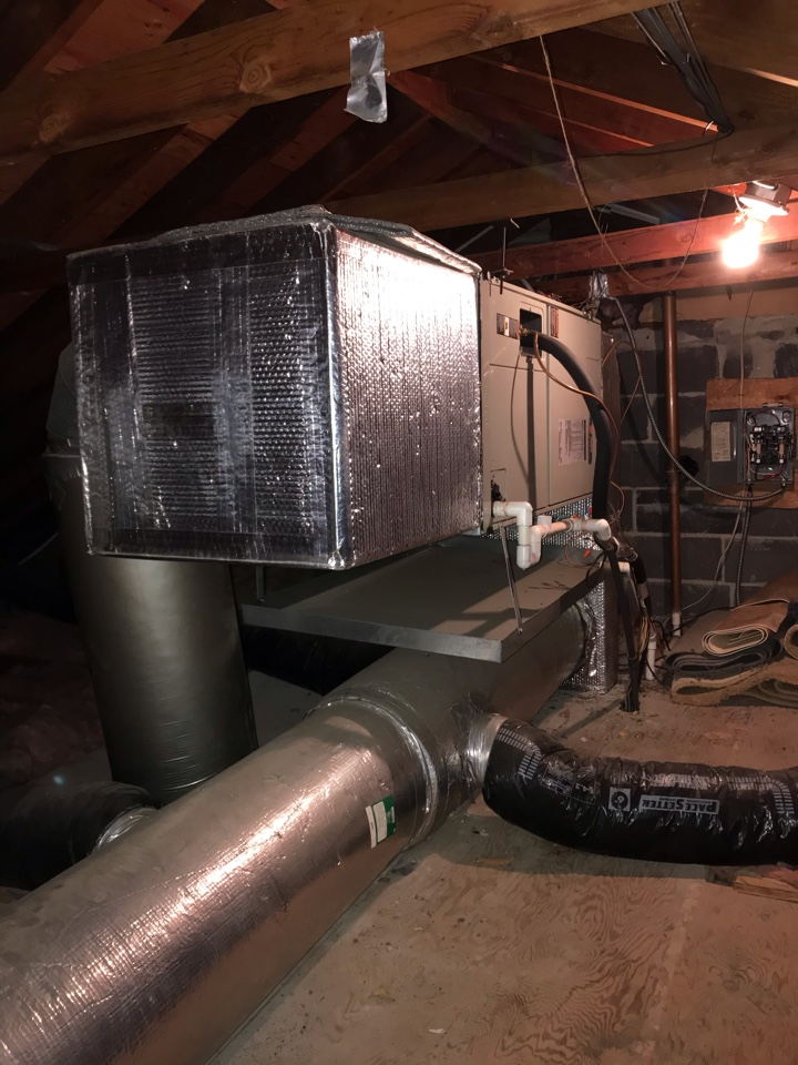 Clark, NJ - Replacement of Trane heat pump system in Clark