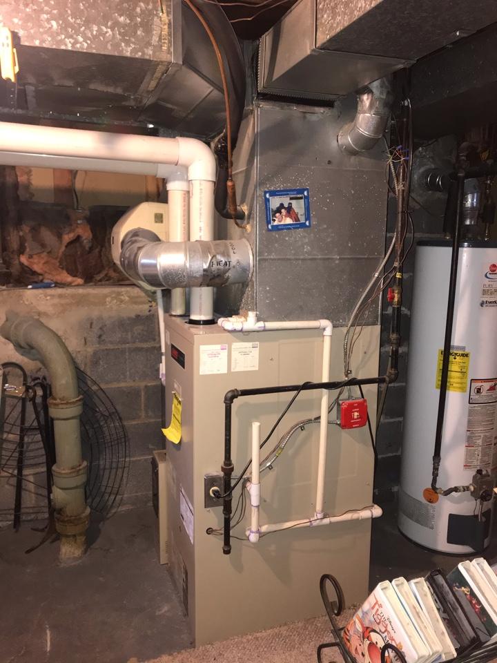 Livingston, NJ - Replacement of Lennox gas furnace in Livingston.