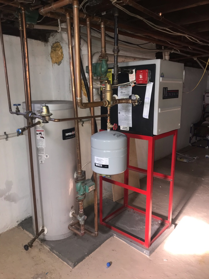 High efficiency, multi zone, Munchkin hot water boiler replacement in North Plainfield.