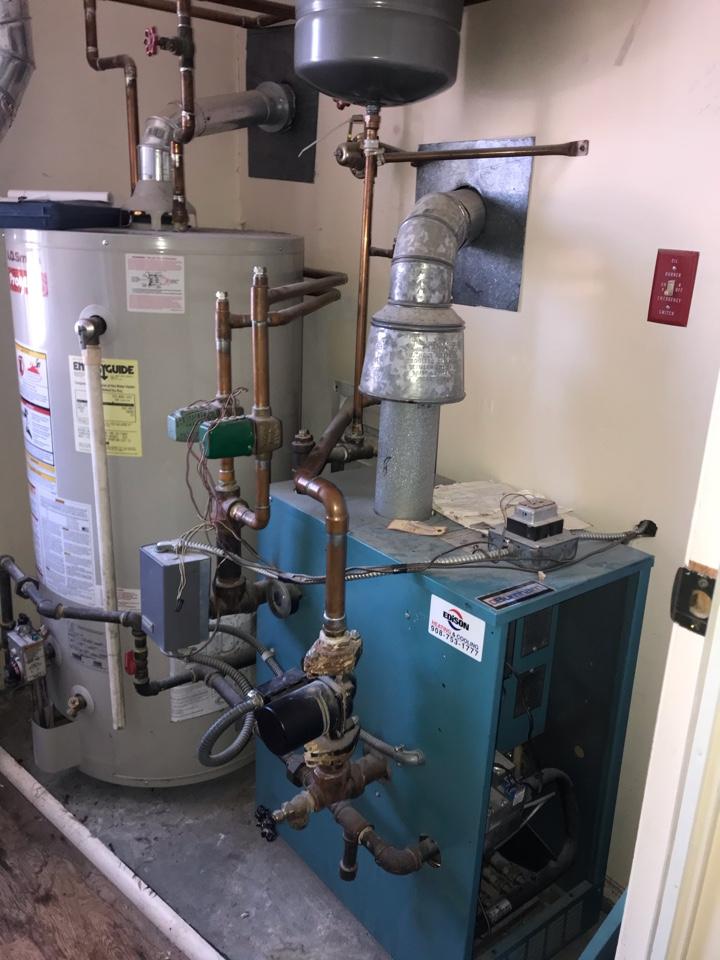 Westfield, NJ - Replacement of Burnham 2 zone hot water boiler in Westfield.