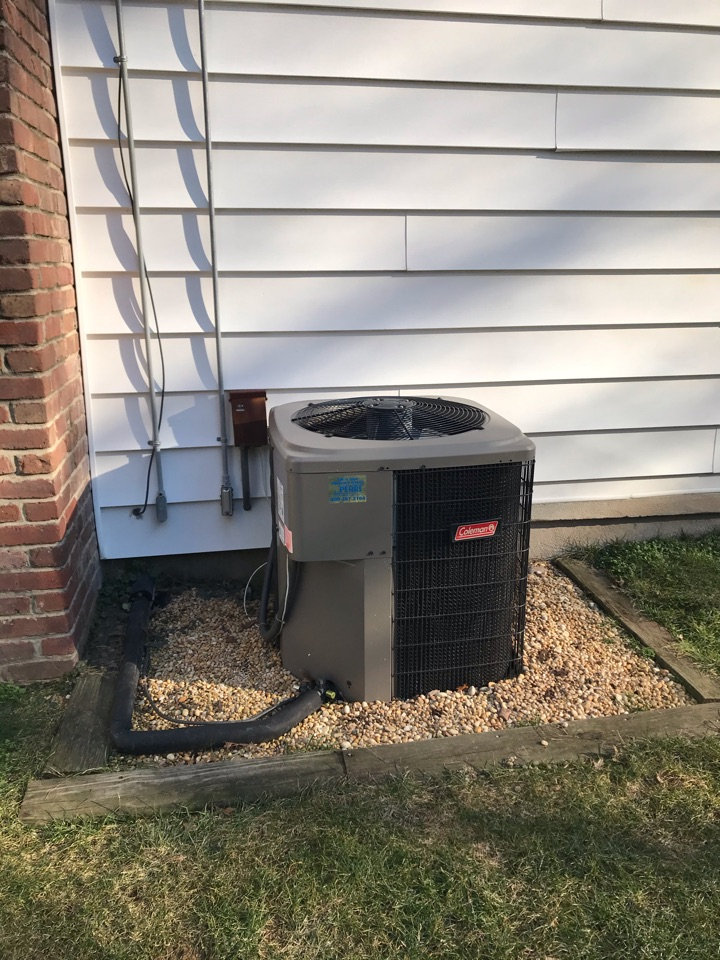 Westfield, NJ - Replacement of Coleman central air conditioning system in Westfield.