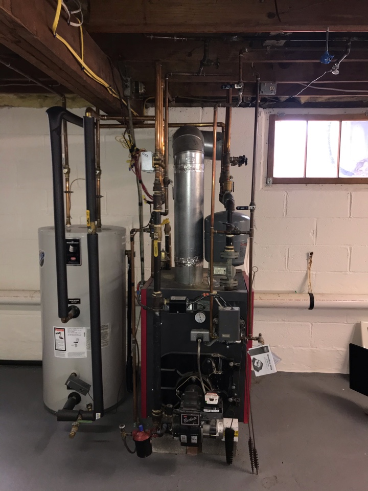 Montville, NJ - Replacement of Crown multi zone hot water boiler. Oil to gas conversion in Montville.