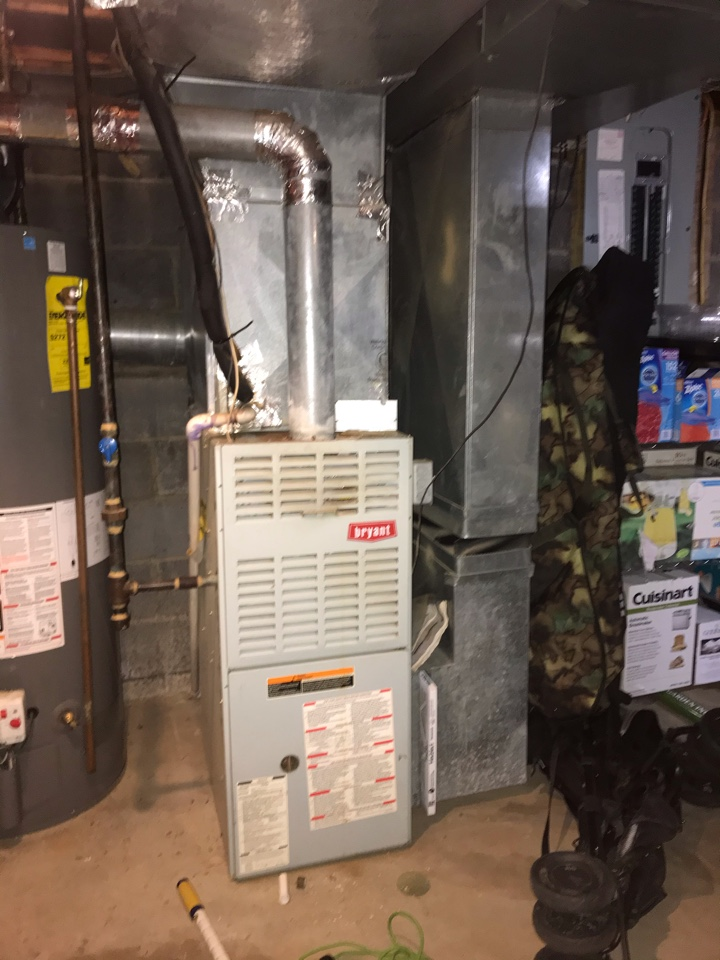 New Providence, NJ - Replacement of Bryant gas furnace in New Providence.