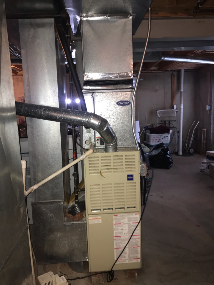 Milford, NJ - Replacement of Carrier gas furnace and air conditioning system in Milford.