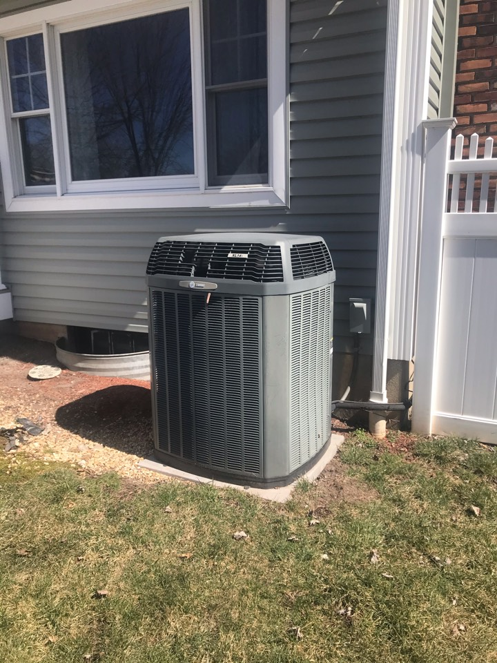 Replacement of Trane central air conditioning system in Parsippany.