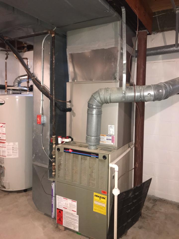 Flemington, NJ - Replacement of Rheem gas furnace in Flemington.