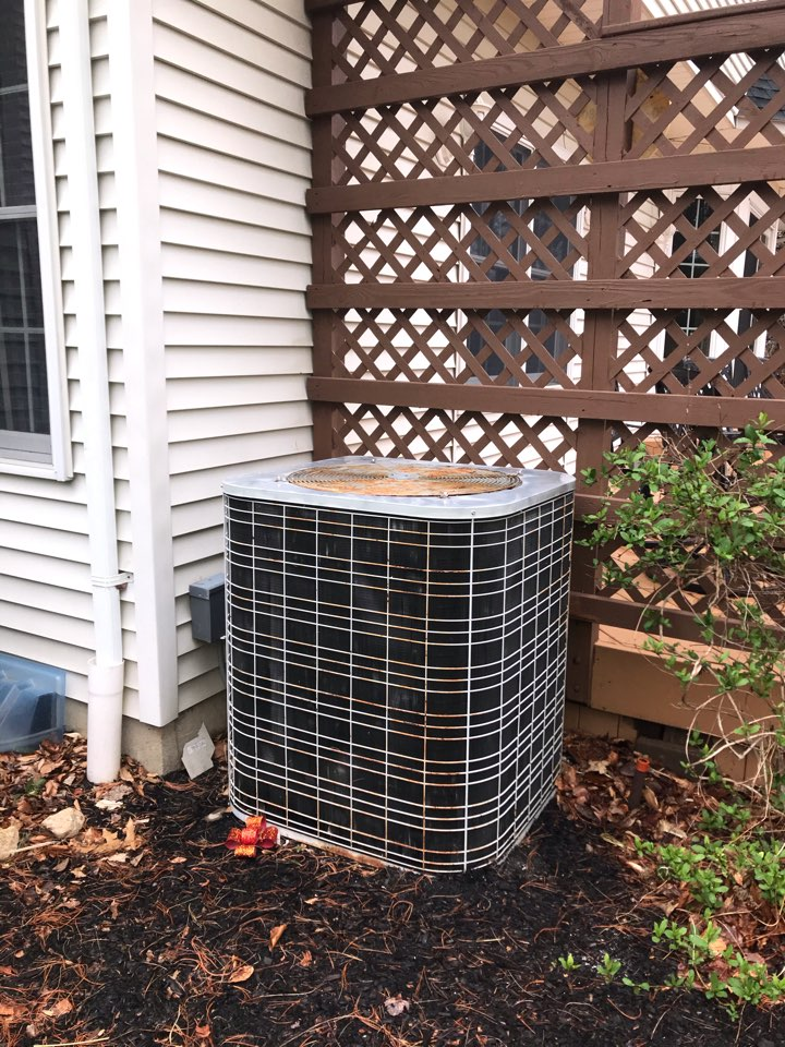 Replacement of 32 year old Bryant air conditioning system in Randolph.