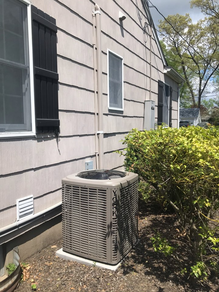 Scotch Plains, NJ - Replacement of York central air conditioning system.