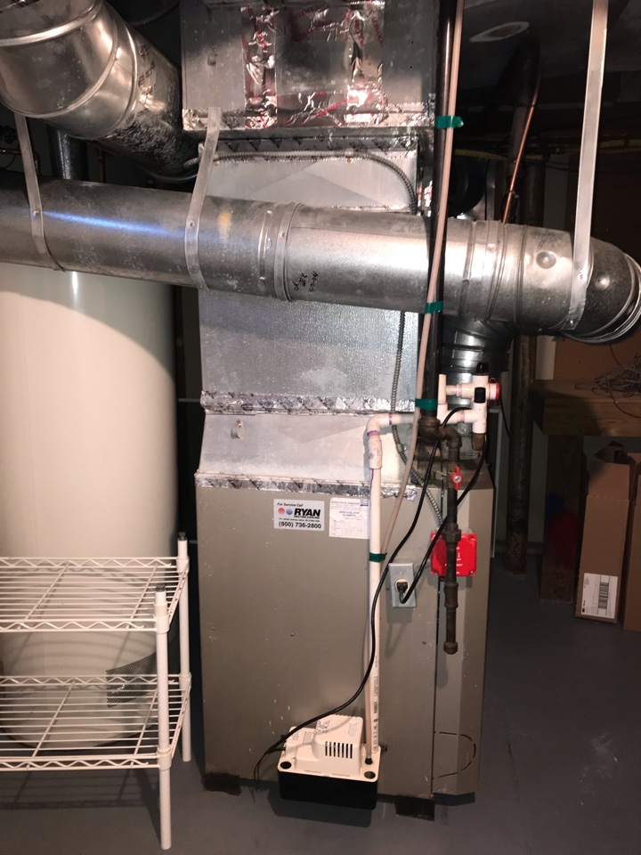 Replacement of gas furnace and air conditioning system in Springfield.