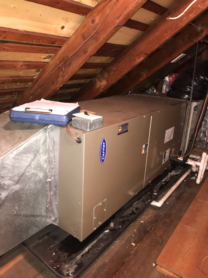Montclair, NJ - Replacement of Carrier central air conditioning system in Montclair.