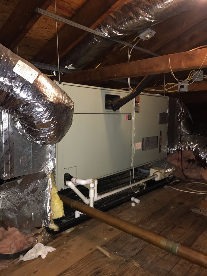 Replacement of Trane central air conditioning system in Watchung.