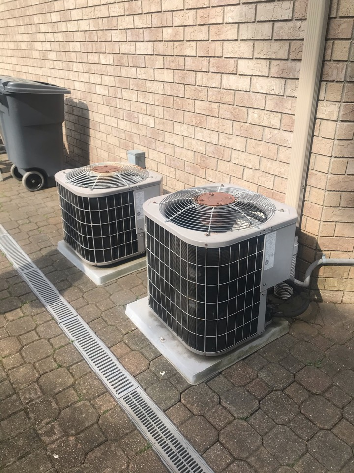 Replacement of 2 central air conditioning systems in Oradell.