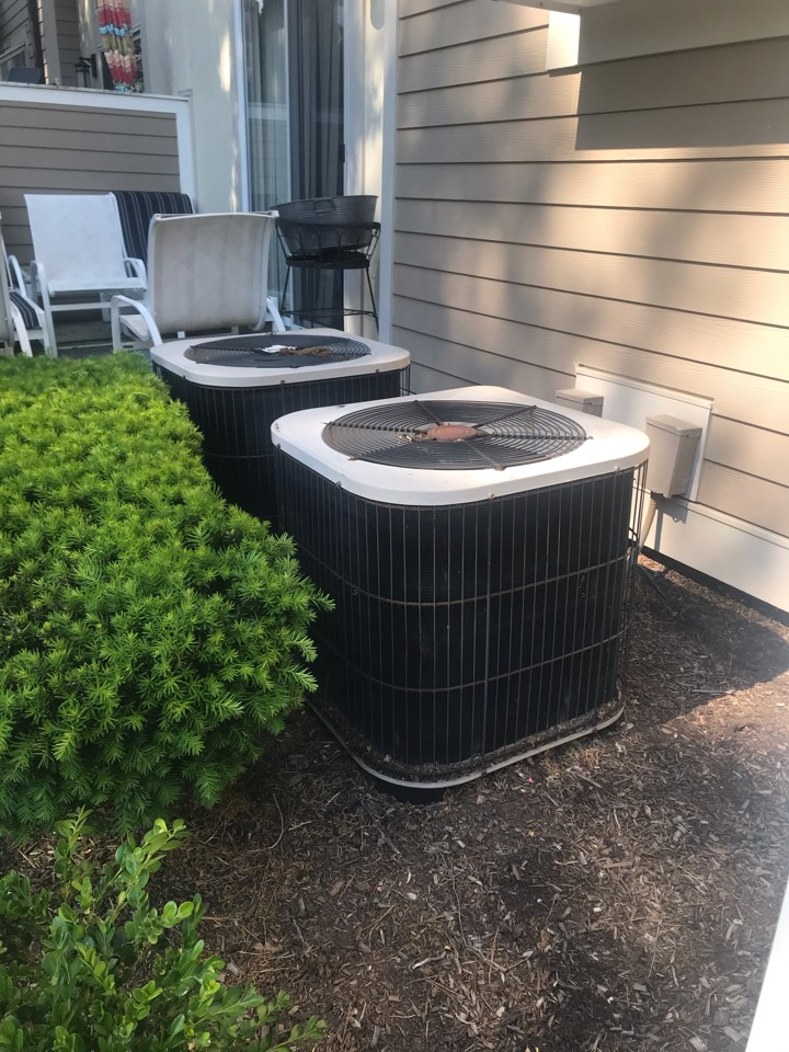 Replacement of 2 Lennox central air conditioning systems in Springfield.