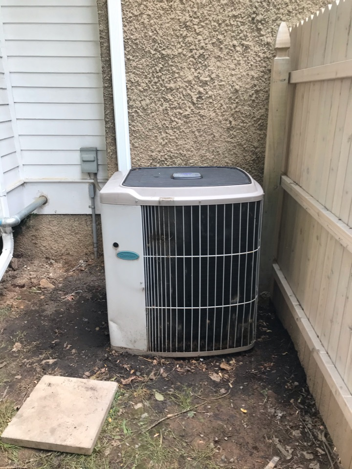 Westfield, NJ - Replacement of Carrier central air conditioning system in Westfield.