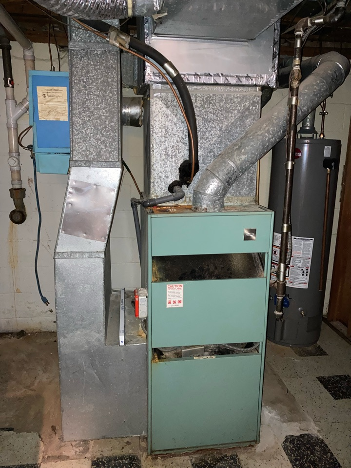 Replacement of 45 year old Carrier gas furnace and air conditioning system in River Vale.