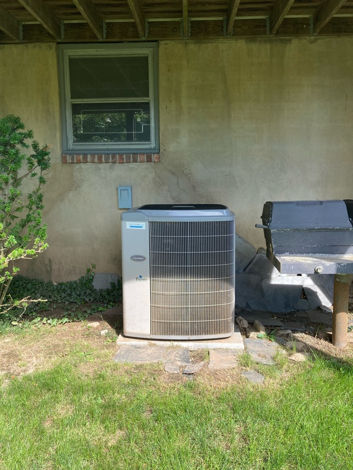 Replacement of Carrier central air conditioning system in South Orange.