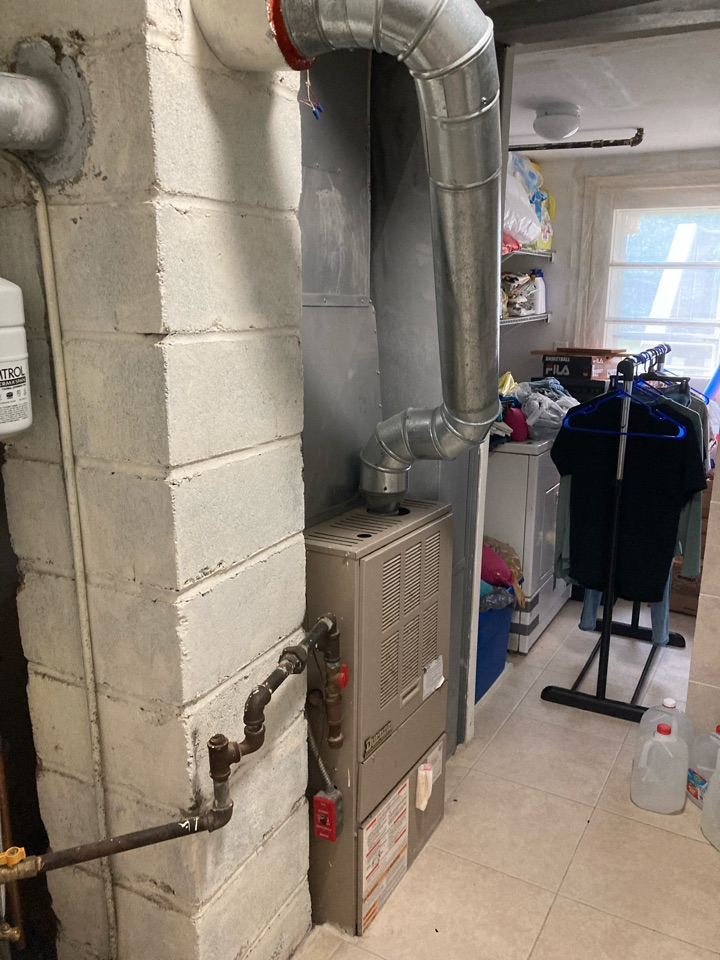 Replacement of Ducane gas furnace and adding central air conditioning to system in Parsippany.