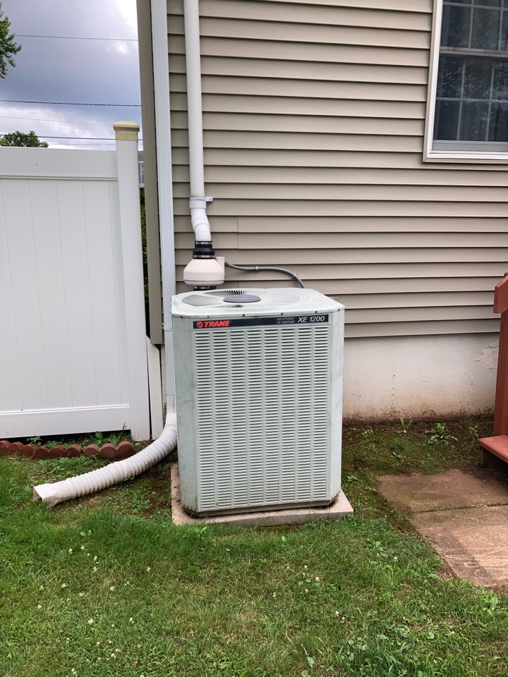 Reply of Trane Central air conditioning system in Manville.