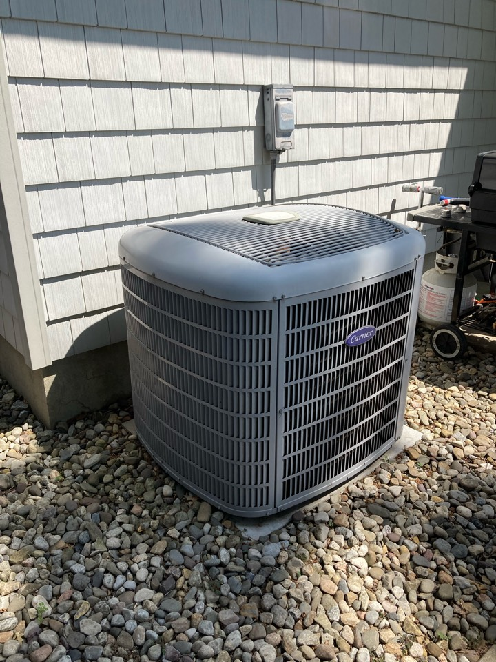Replacement of Carrier central air conditioning system in Rahway.