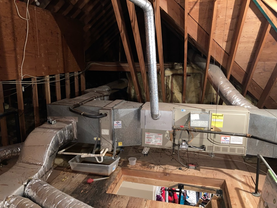 Replacement of gas furnace and air conditioning system in Warren.