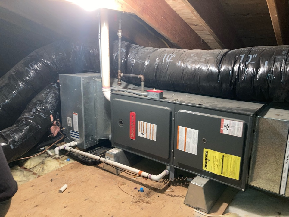 Scotch Plains, NJ - Replacement of Goodman gas furnace and air conditioning system in Scotch Plains.