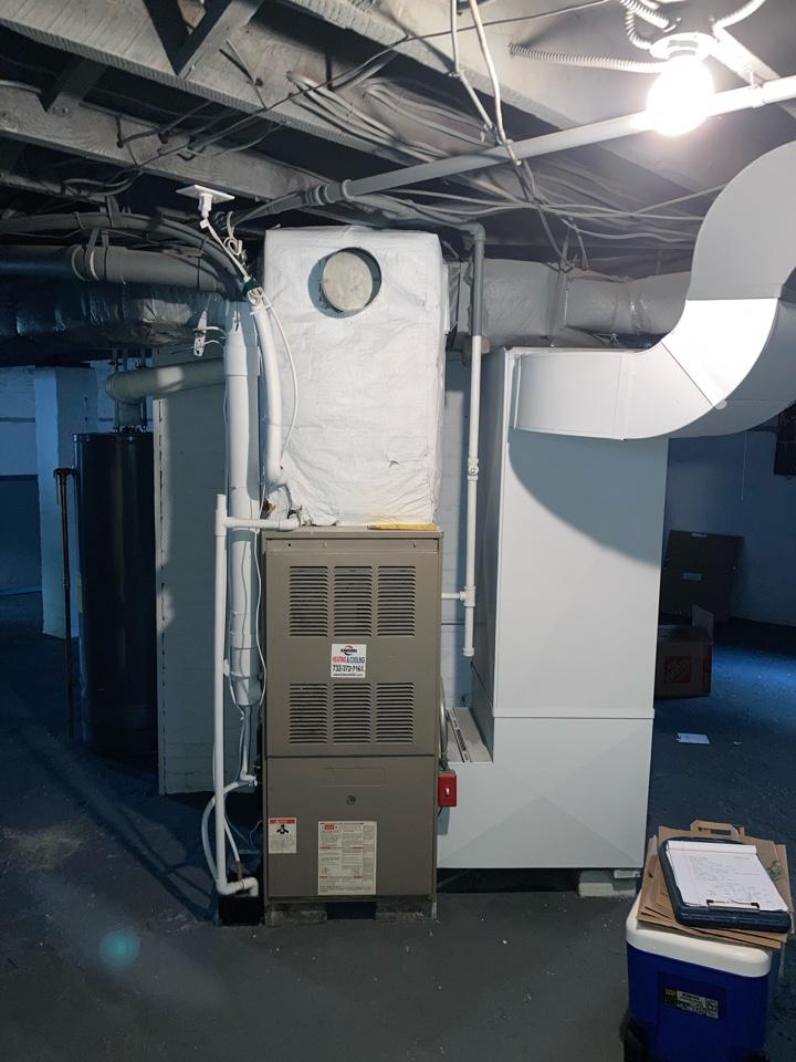 Bloomfield, NJ - Replacement of Goodman gas furnace in Bloomfield.