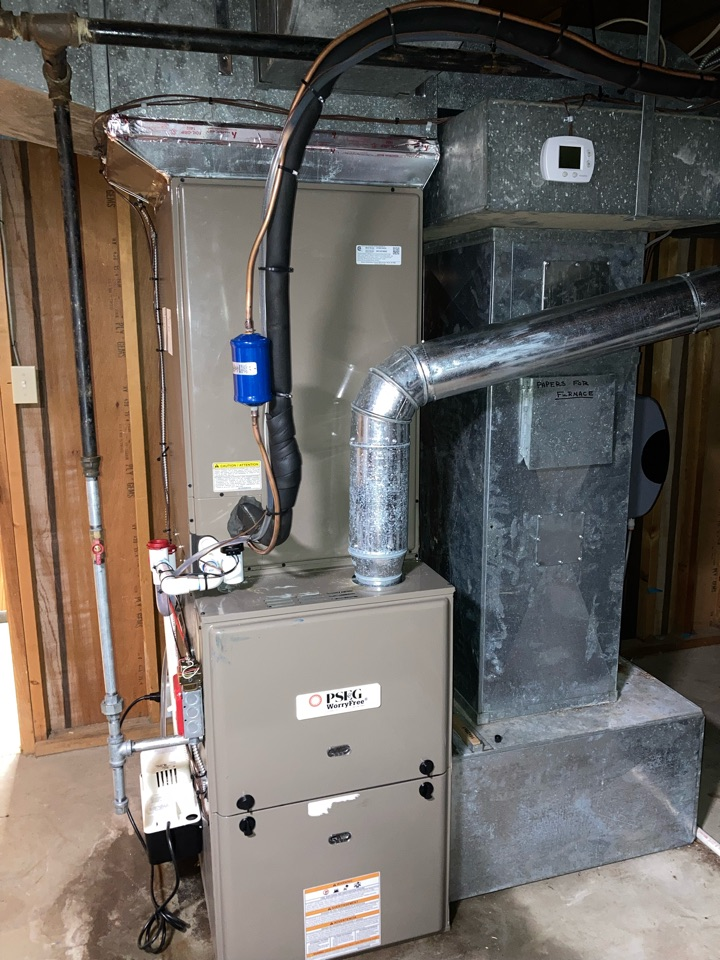 Replacement of York gas furnace and air conditioning system in Scotch Plains.