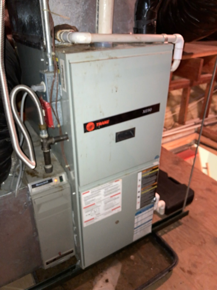 Replacement of Trane gas furnace and air conditioning system in Warren.