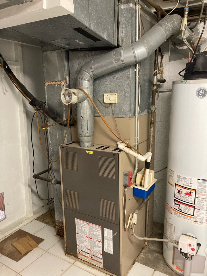 Replacement of York gas furnace and air conditioning system in Iselin